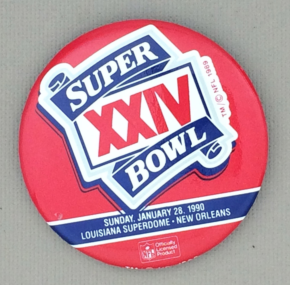1990 Super Bowl XXIV Button