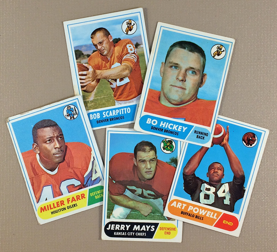 1968 AFL Collectors Card Set
