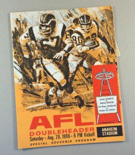 AFL Doubleheader at Anaheim Stadium 1966 Program