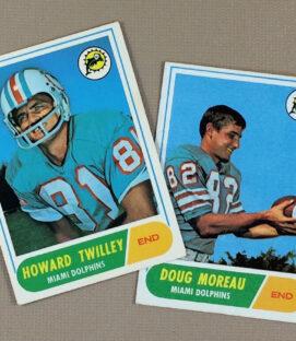 1968 Miami Dolphins Collectors Card Set