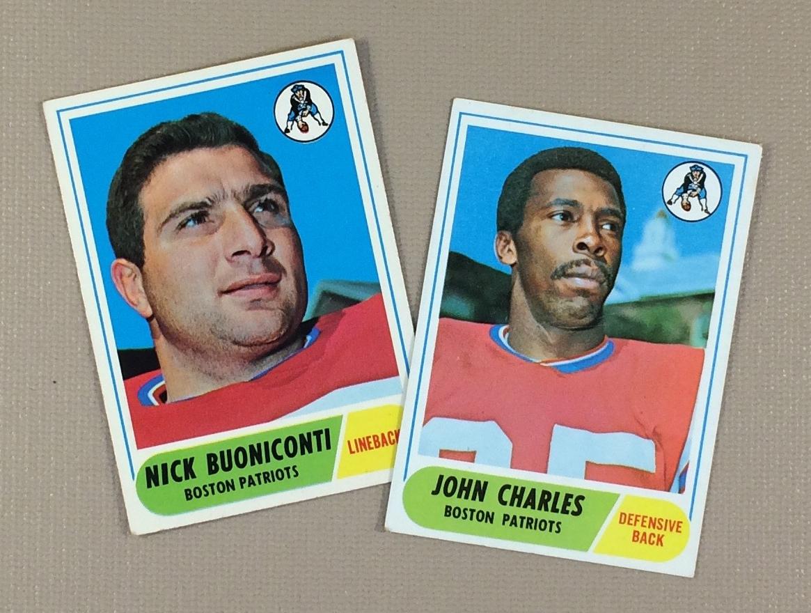 1968 Boston Patriots Collectors Card Set