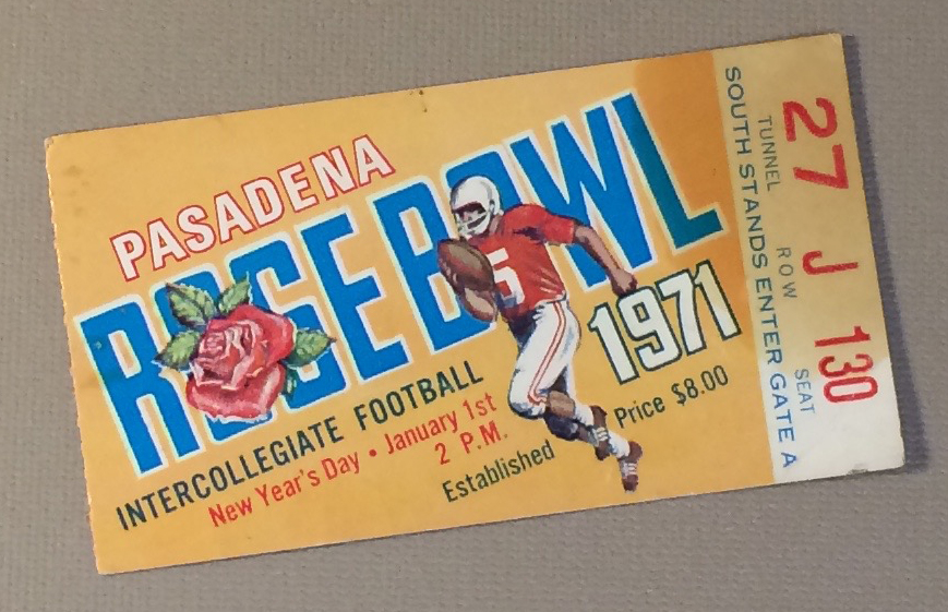 Rose Bowl 1971 Ticket Stub