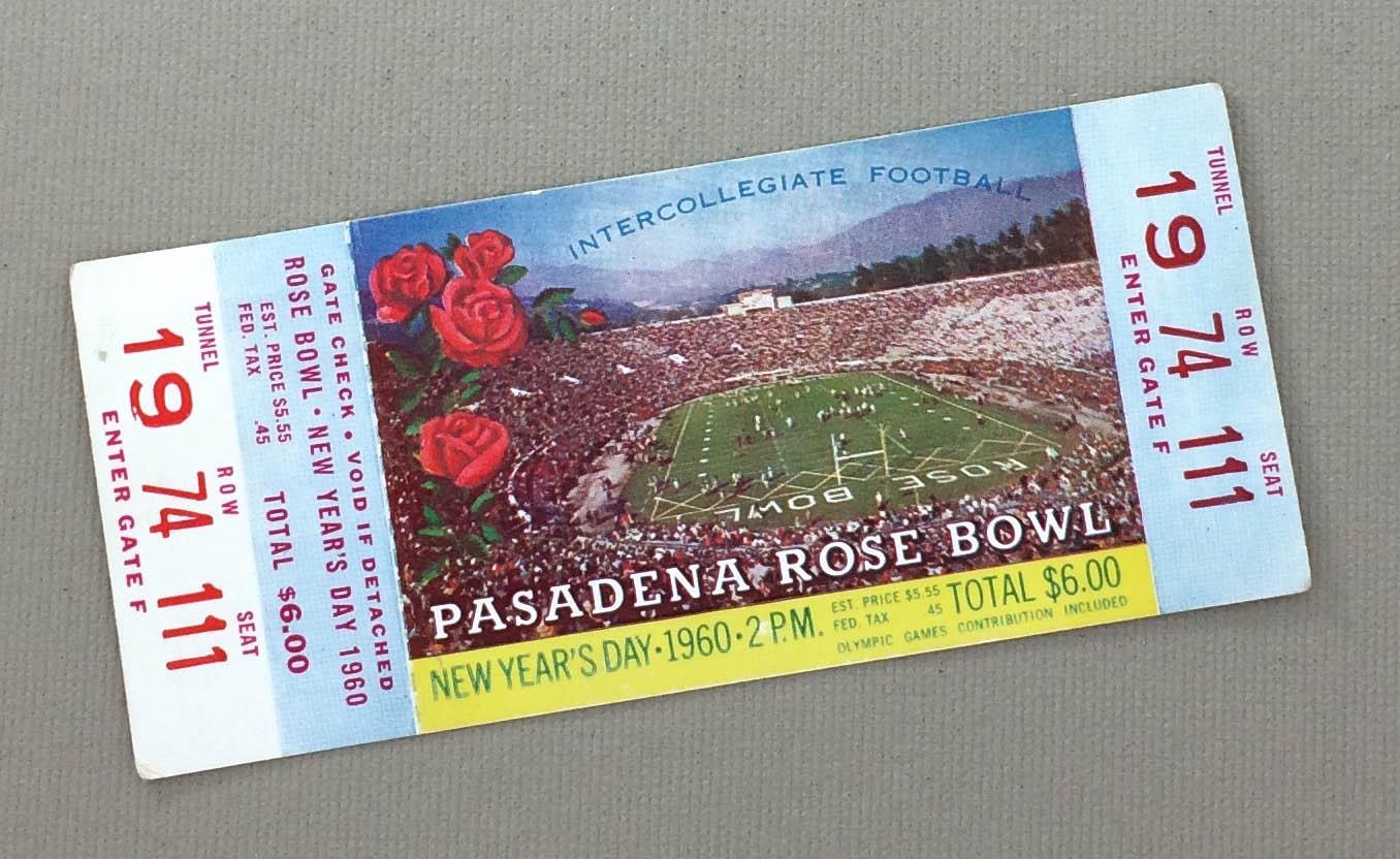 1960 Rose Bowl Ticket