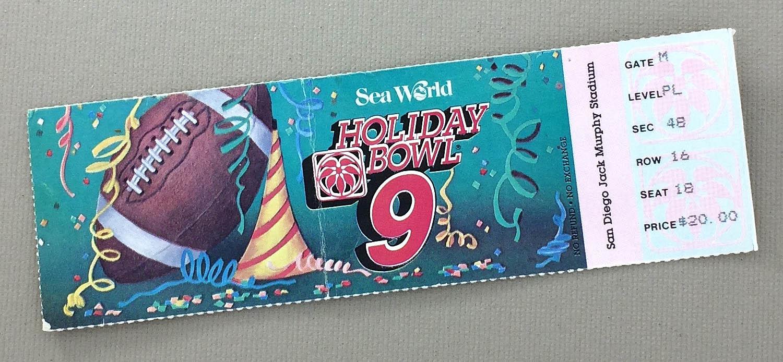 1986 Holiday Bowl Ticket