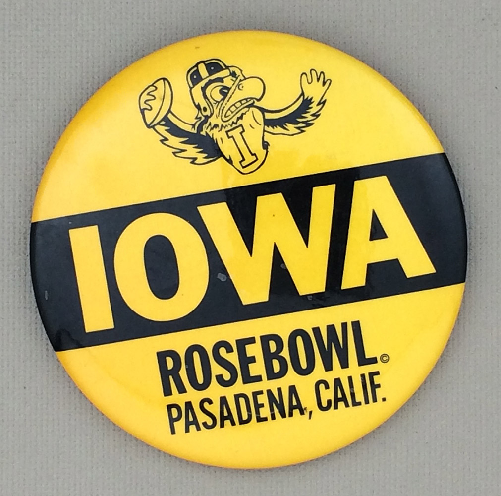 Iowa Rose Bowl Button