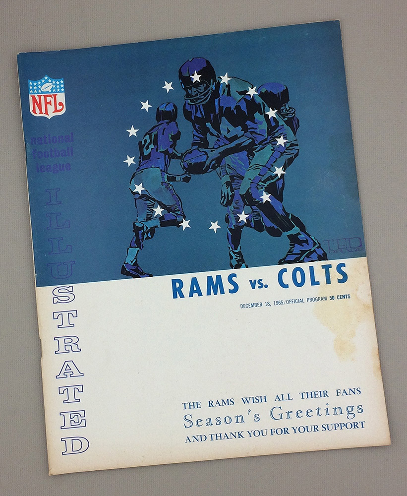 Los Angeles Rams Baltimore Colts 1965 Game Program