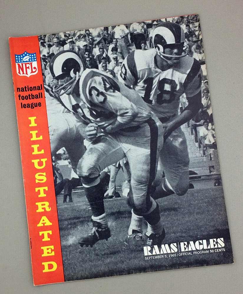 Los Angeles Rams Philadelphia Eagles 1965 Game Program