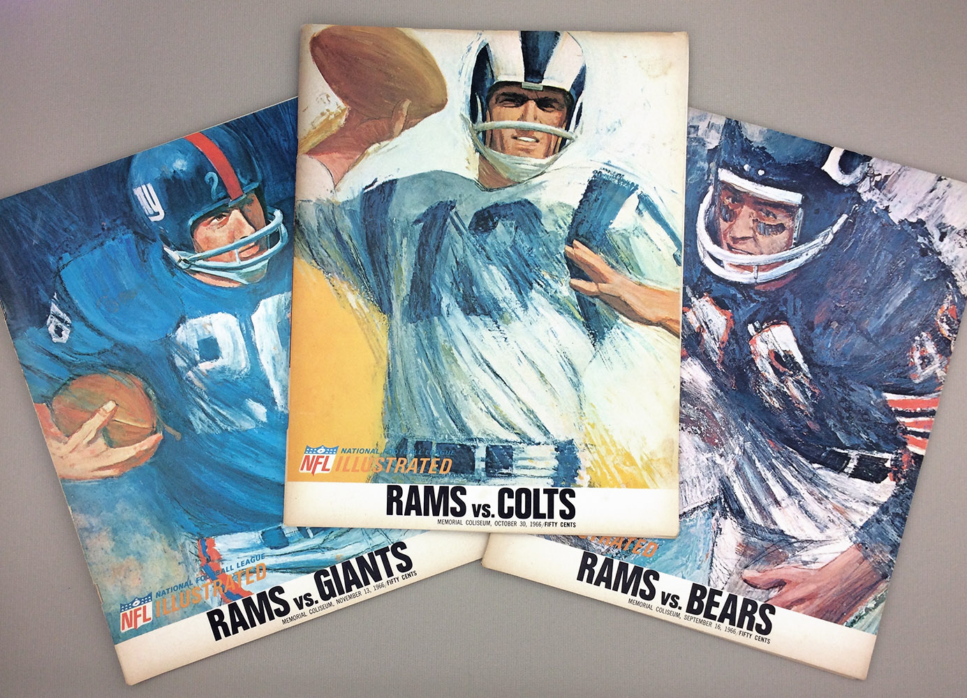 Los Angeles Rams 1966 Program 3-Pack