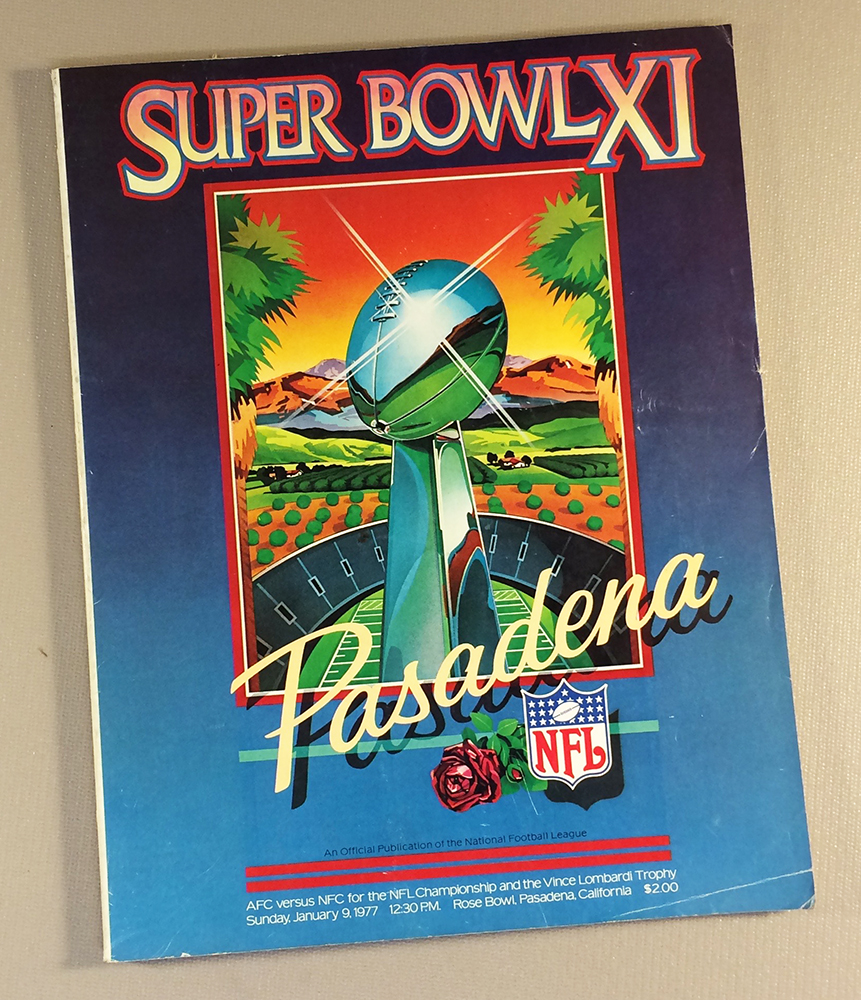 1977 Super Bowl XI Program