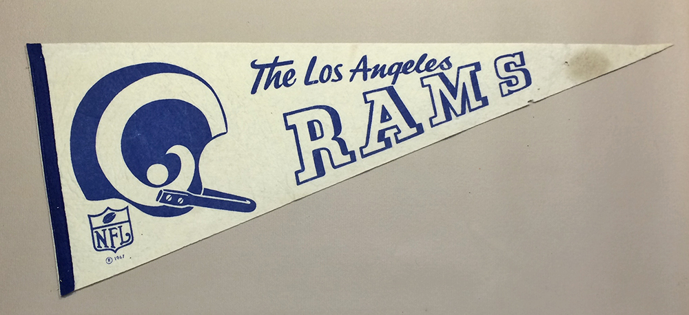 Los Angeles Rams 1967 Team Pennant