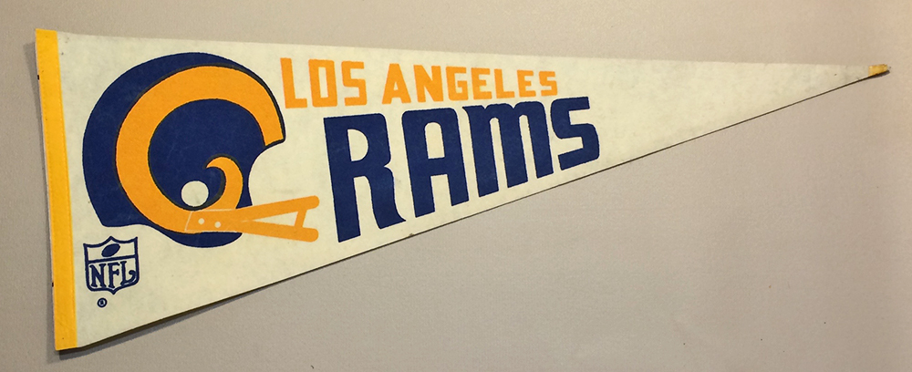 Los Angeles Rams 1970's Team Pennant