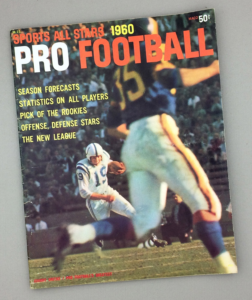 Sports All Stars 1960 Pro Football Guide
