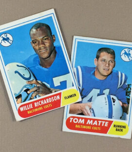 1968 Baltimore Colts Collectors Card Set