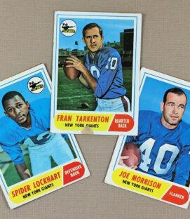 1968 New York Giants Collectors Card Set