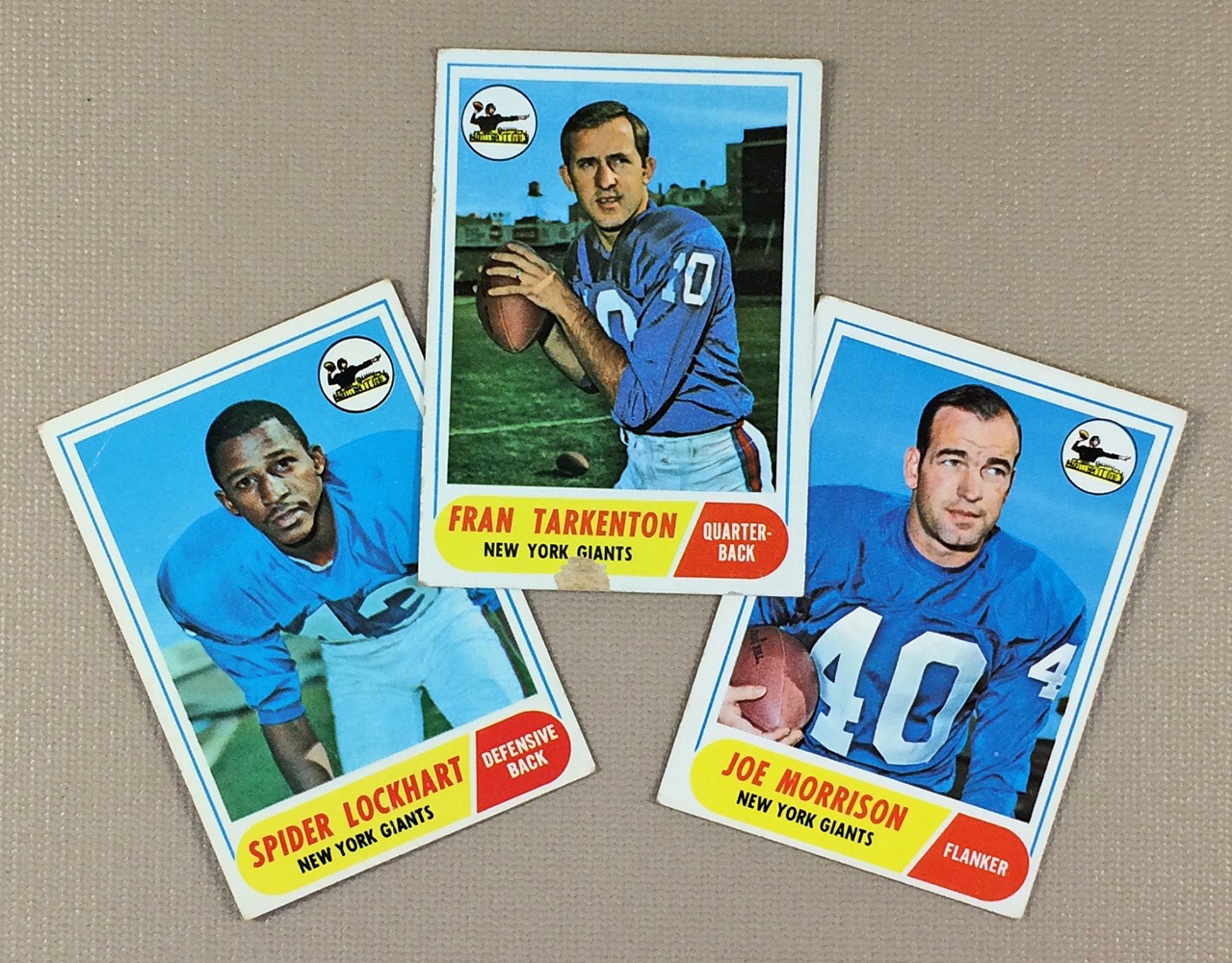 1968 New York Giants Collectors Card Set