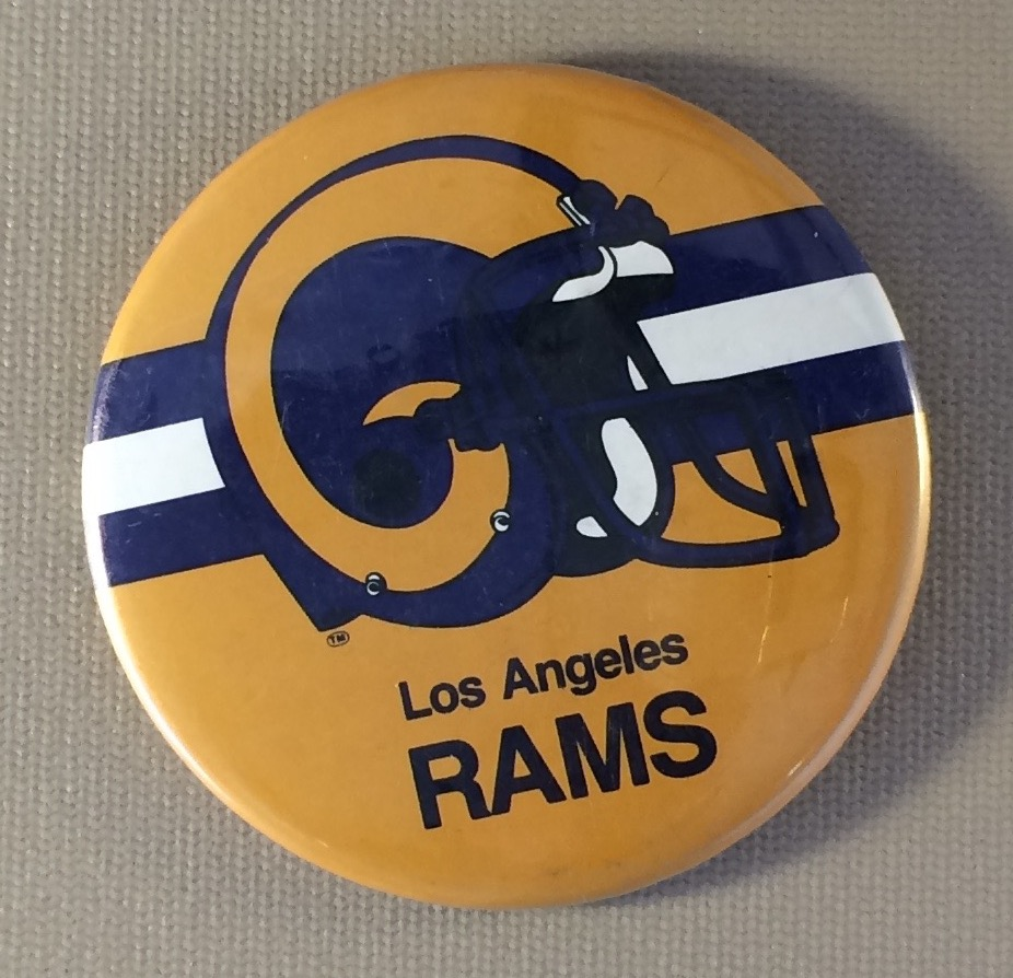 Los Angeles Rams Helmet Logo Button
