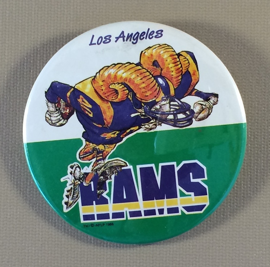 Los Angeles Rams Character Button