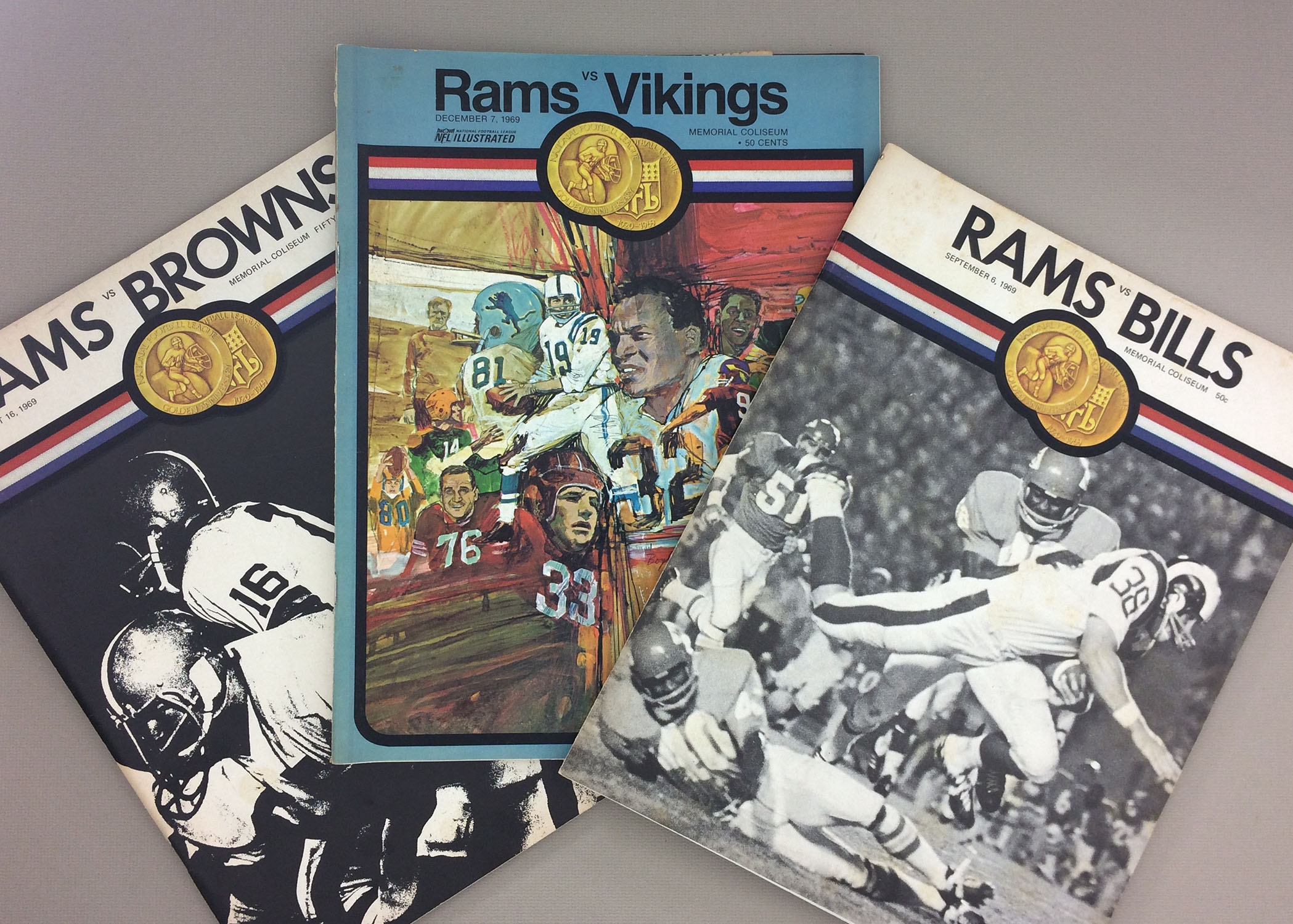 Los Angeles Rams 1969 Program 3 Pack 1