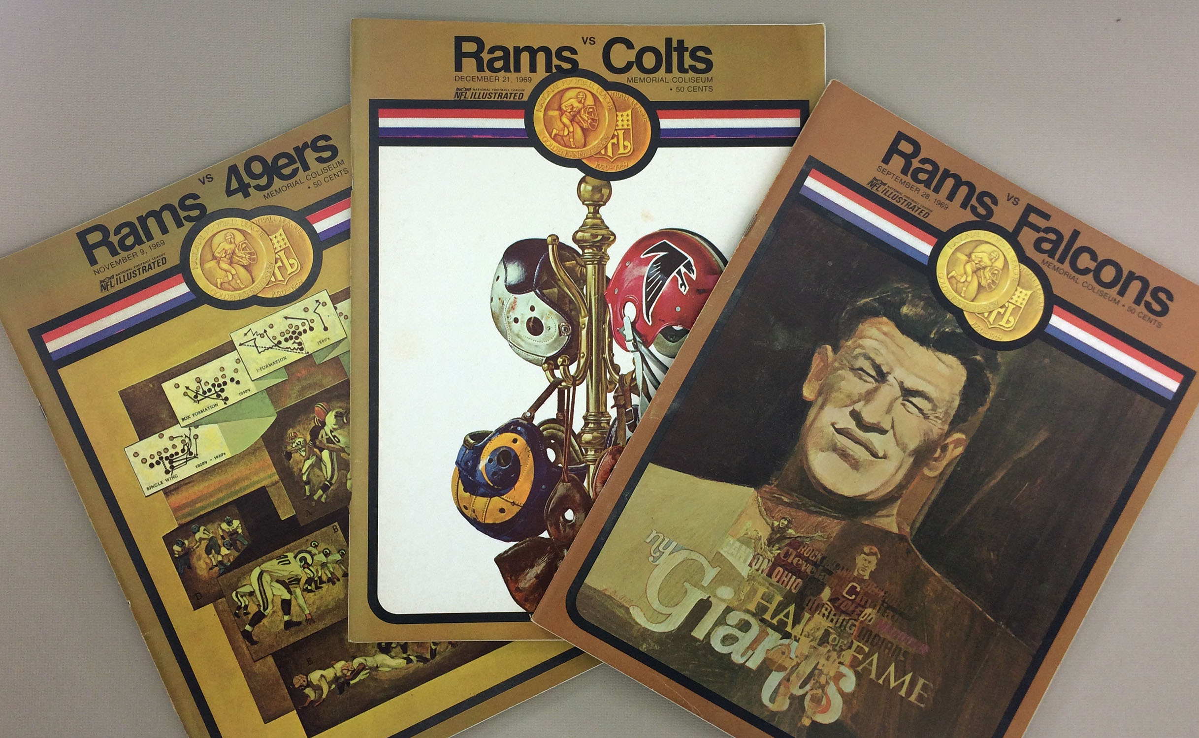 Los Angeles Rams 1969 Program 3 Pack 2