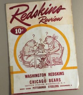 1945 Washington Football Team vs Chicago Bears Game Program