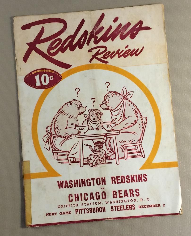 1945 Washington Redskins vs Chicago Bears Game Program
