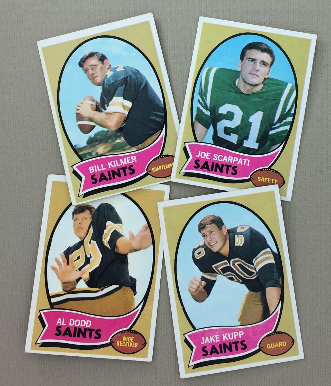 New Orleans Saints 1970 cards