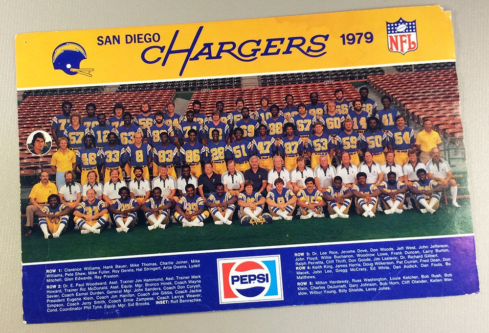 San Diego Chargers 1979 Team Photo