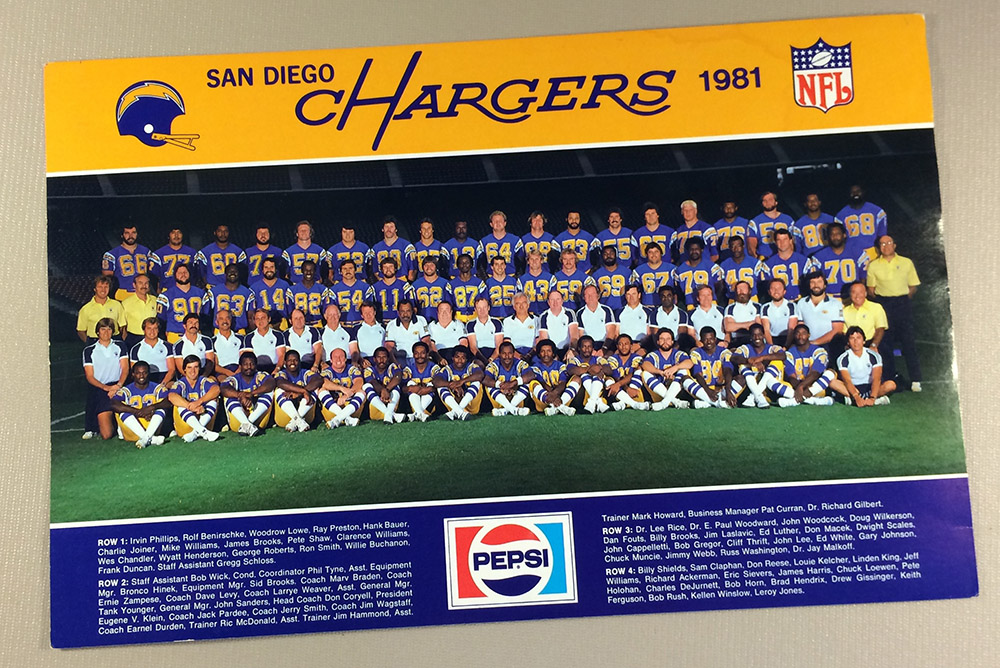 San Diego Chargers 1981 Team Photo
