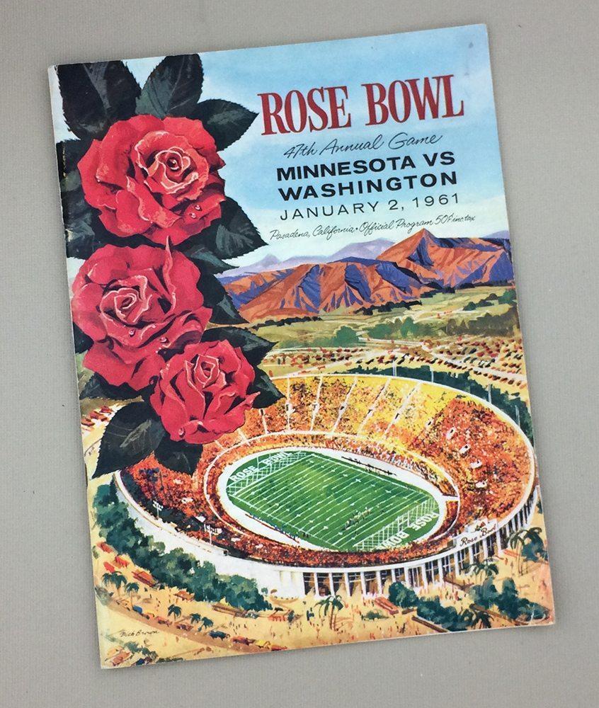 1961 Rose Bowl Game Program