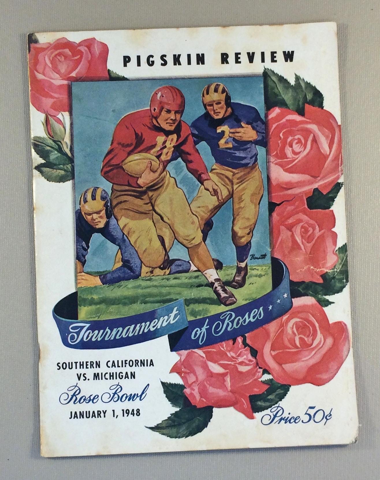 1948 Rose Bowl Game Program