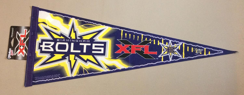 Birmingham Bolts XFL Team Pennant