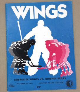 Tidewater Wings 1971 Hockey Program