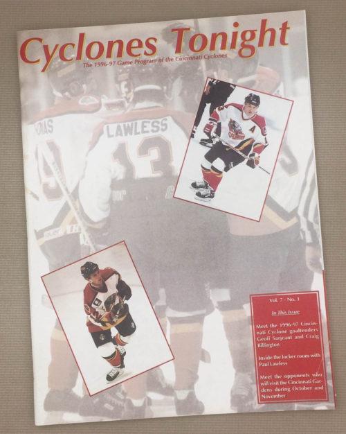 Cincinnati Cyclones 1996-97 IHL Program