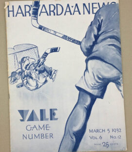 Harvard Yale 1932 Hockey Game Program