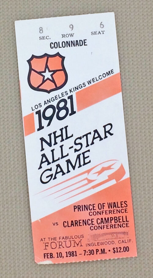 1981 NHL All-Star Game Ticket