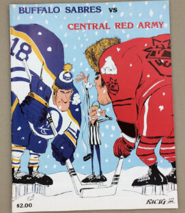 Buffalo Sabres Central Red Army 1980 Program