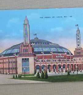 St Louis Arena Vintage Postcard