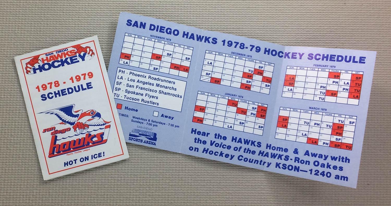 San Diego Hawks 1978-79 Schedule