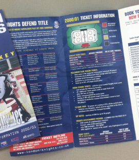 London Knights Ticket Brochure