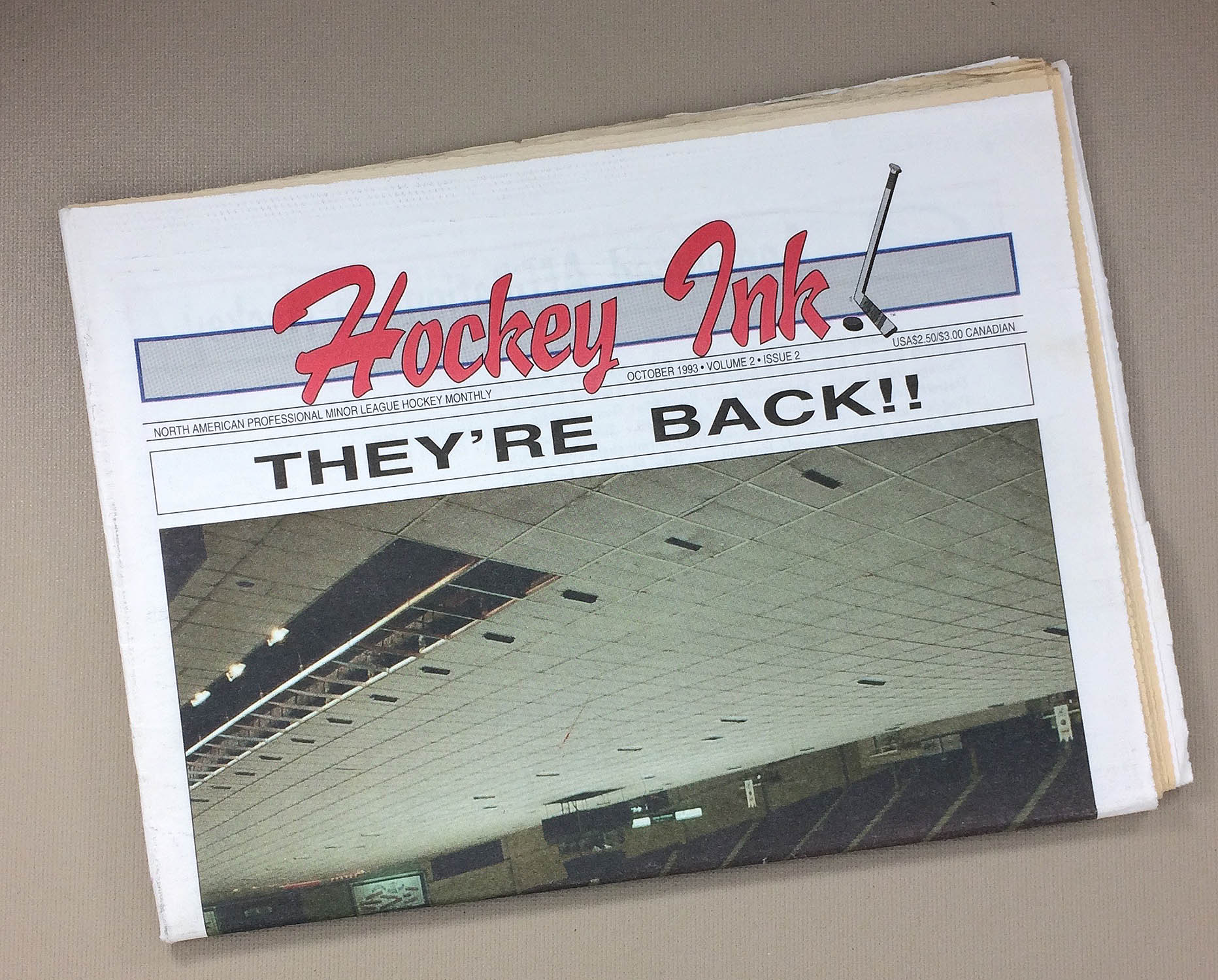 1993 Issue of Hockey Ink Tabloid