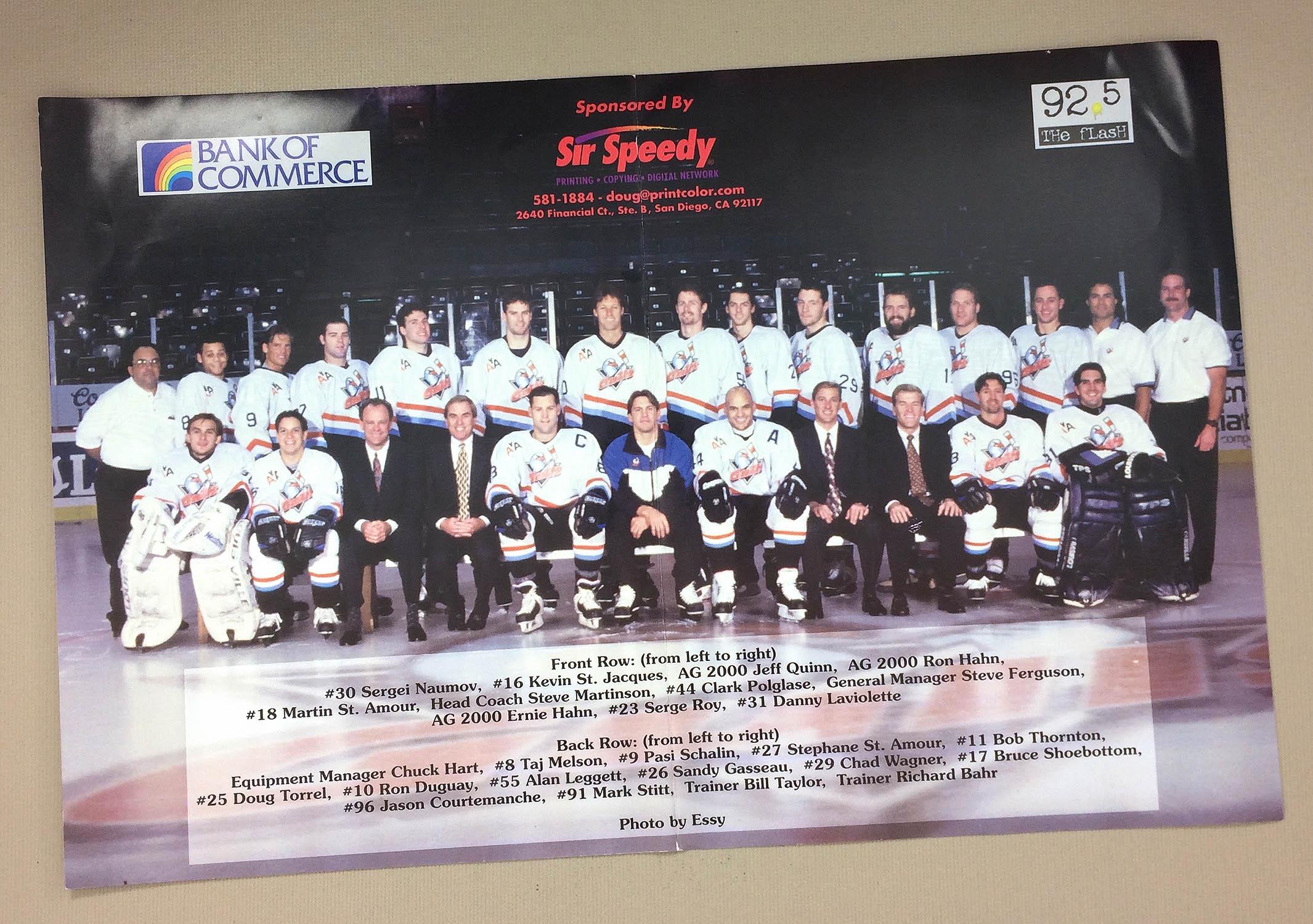 San Diego Gulls 1998-99 Team Photo