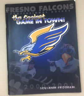 Fresno Falcons 2001 WCHL Program
