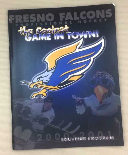 Fresno Falcons 2001 WCHL Program