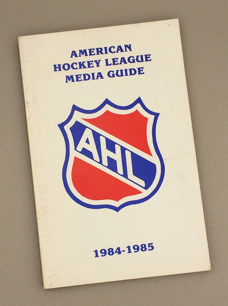 American hockey league 1984 85 media guide for League two table 1984 85