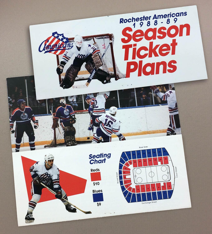 Rochester Americans 1988-89 Ticket Brochure
