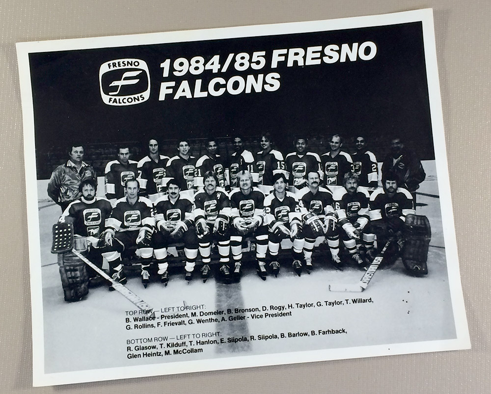 Fresno falcons 1984 team photo for League two table 1984 85