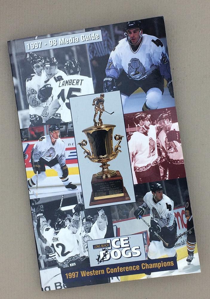 Long Beach Ice Dogs 1997-98 Media Guide