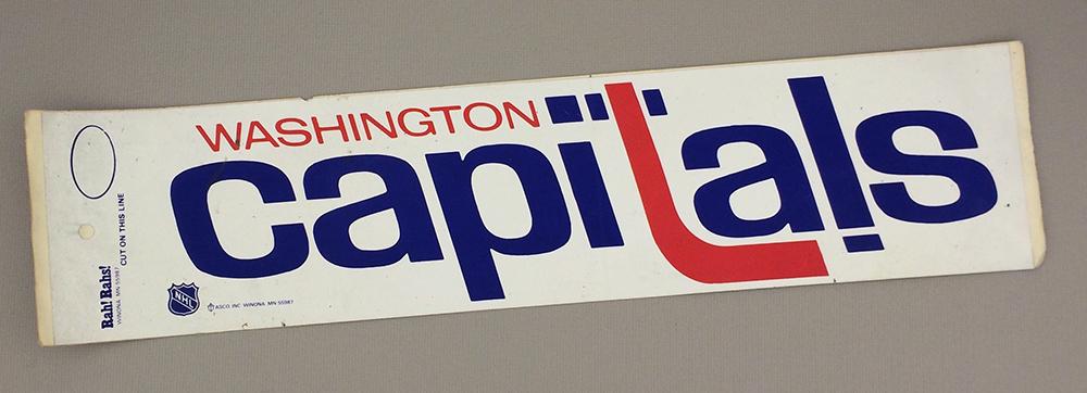 Washington Capitals 1974 Bumper Sticker