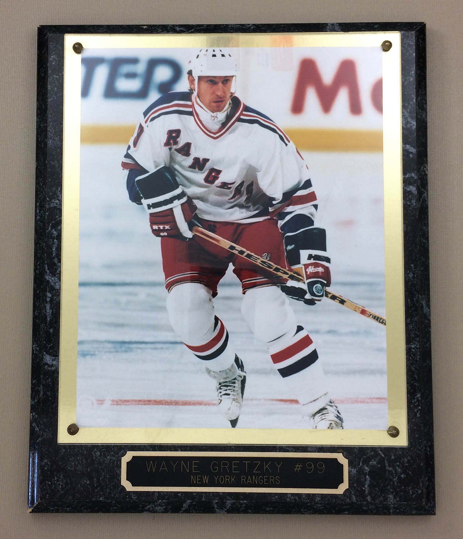 Wayne Gretzky New York Rangers Plaque