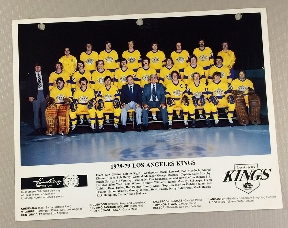 Los Angeles Kings 1978-1979 Team Photo